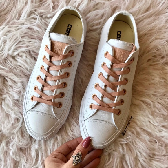 c17c51c769b1c6 NWT Converse ID Leather rose gold white pink